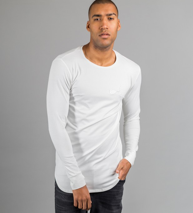 Cotton Long Sleeve White Thumbnail 1