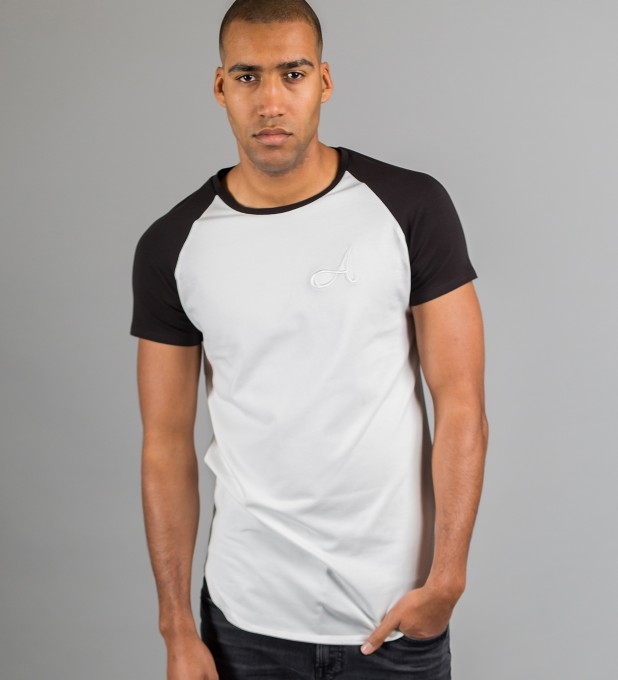 Cotton Raglan T-Shirt White Thumbnail 2