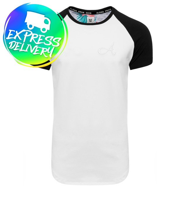 Cotton Raglan T-Shirt White Thumbnail 1