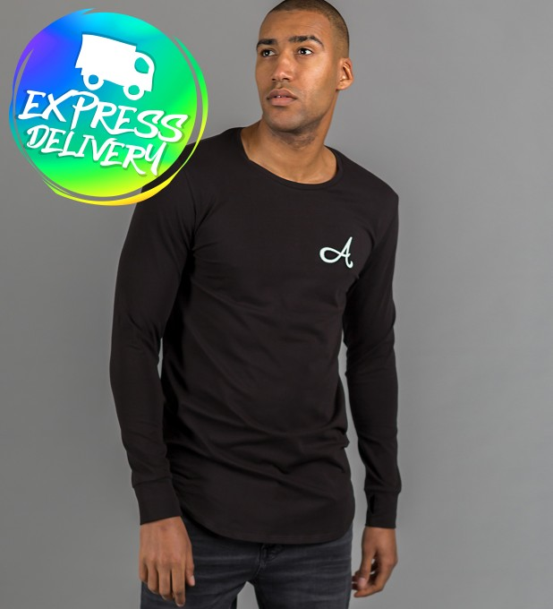 Cotton Long Sleeve Black Thumbnail 1