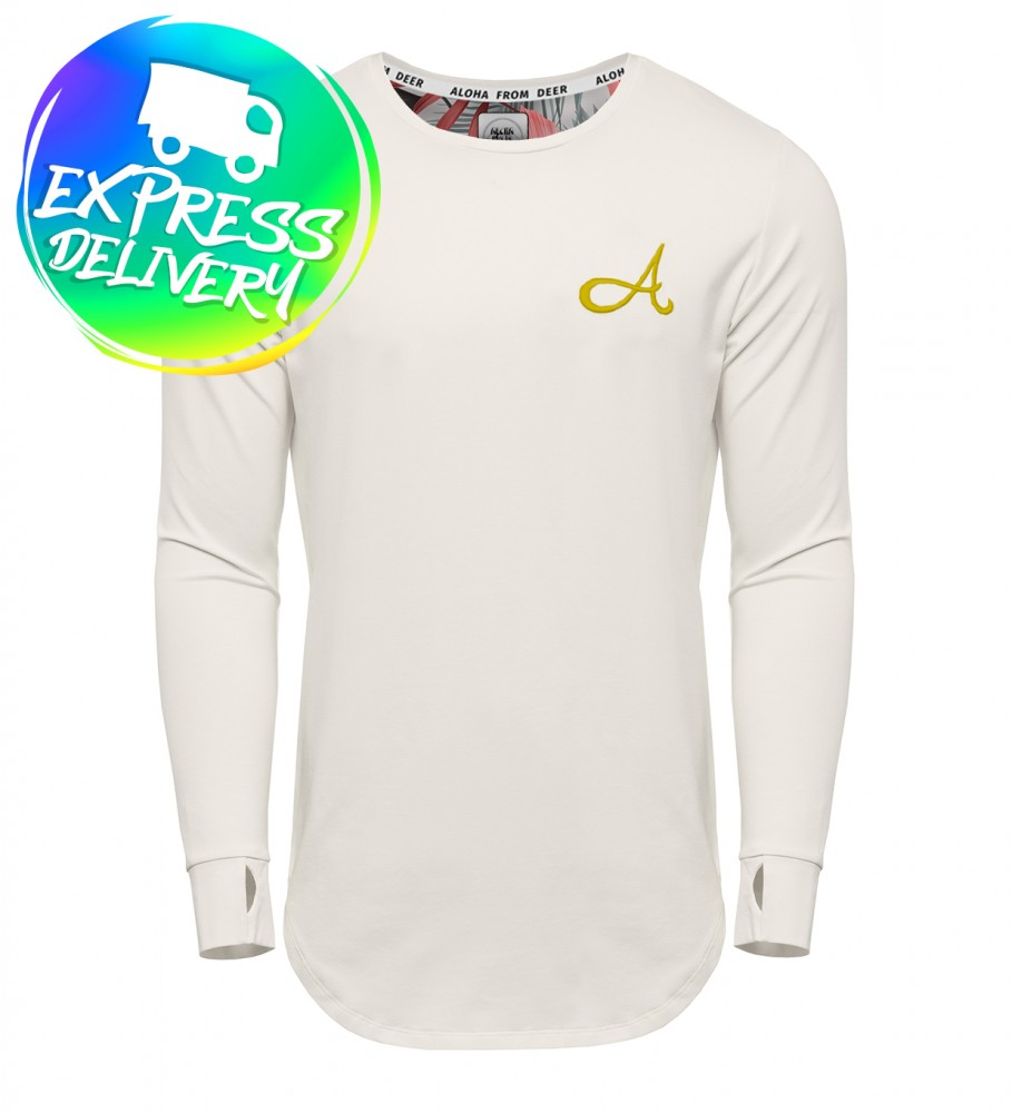 Aloha From Deer, Cotton Long Sleeve White Gold Image $i