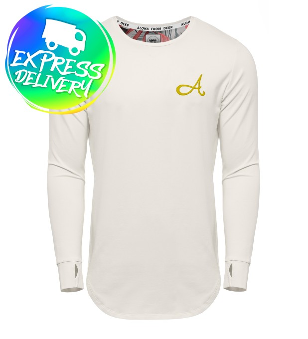 Cotton Long Sleeve White Gold Thumbnail 1