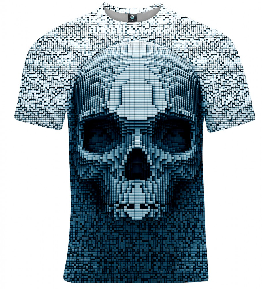 Aloha From Deer, PIXEL SKULL T-SHIRT Image $i