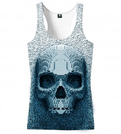 Aloha From Deer, PIXEL SKULL TANK TOP Thumbnail $i