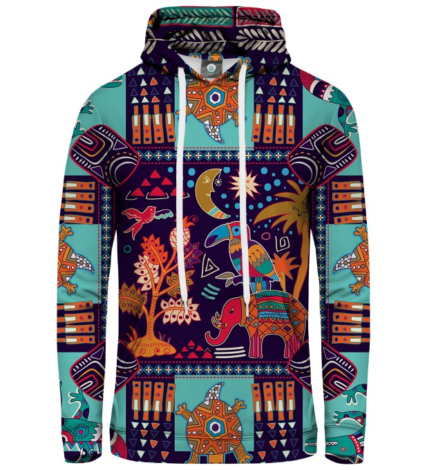 BLUZA Z KAPTUREM TRIBAL CONNECTIONS Miniatury 1