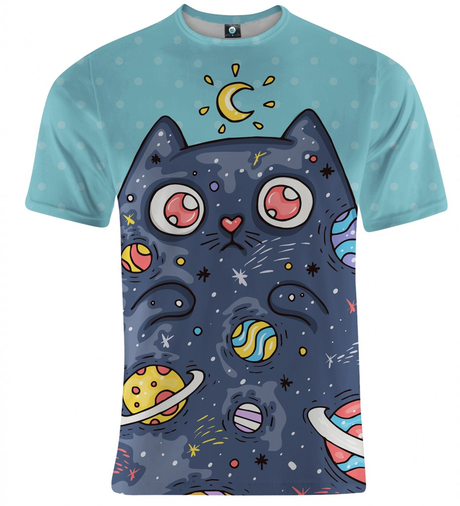 Aloha From Deer, SPACE CAT T-SHIRT Image $i
