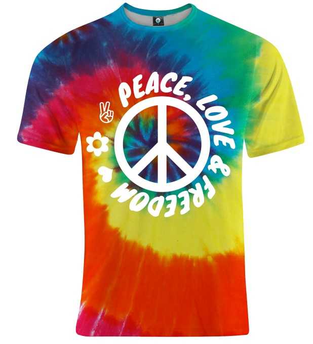 T-SHIRT PEACE, LOVE AND FREEDOM Miniatury 1