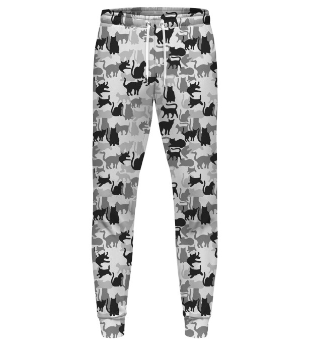 WHITE CAMO CATS SWEATPANTS Miniatury 1