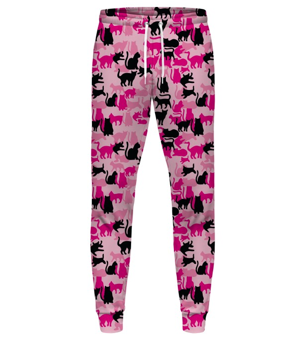 PINK CAMO CATS SWEATPANTS Miniatury 1