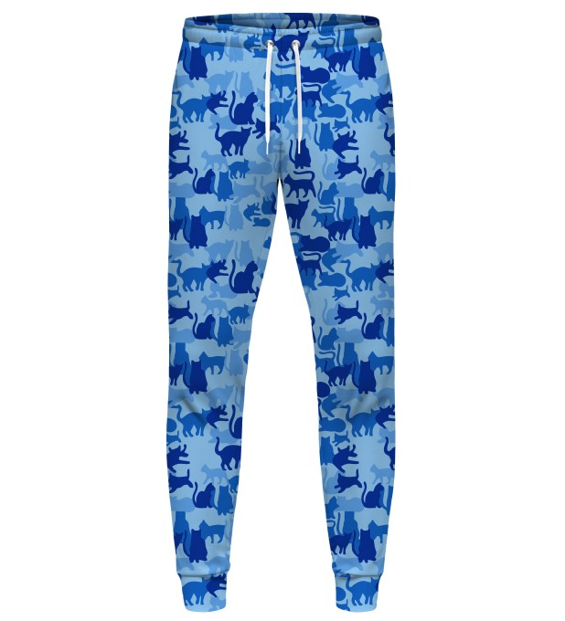 BLUE CAMO CATS SWEATPANTS Miniatury 1