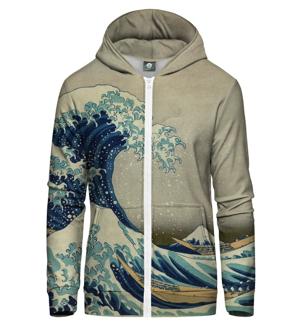 GREAT WAVE ZIP UP HOODIE Thumbnail 2