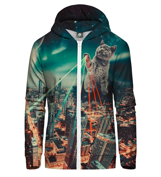 EVIL CAT ZIP UP HOODIE Thumbnail 2