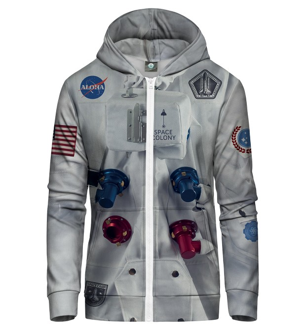 ALOHA SPACE STATION ZIP UP HOODIE Thumbnail 2
