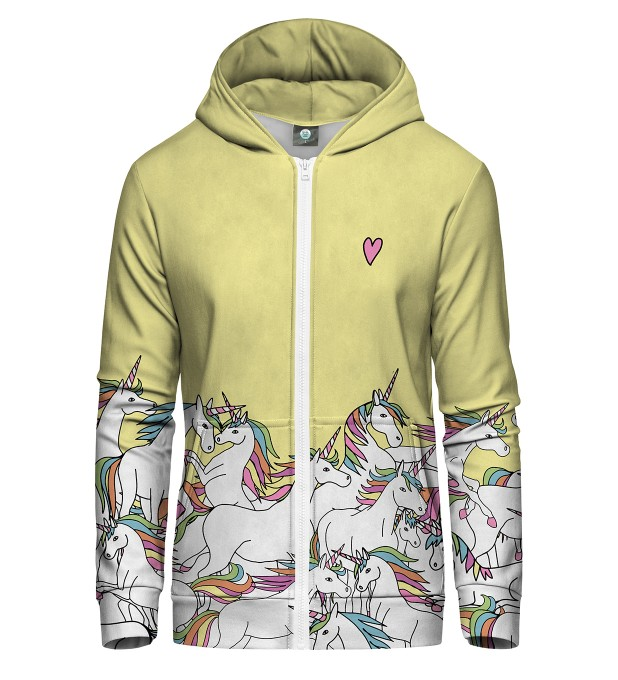 UNICORN ZIP UP HOODIE Thumbnail 2