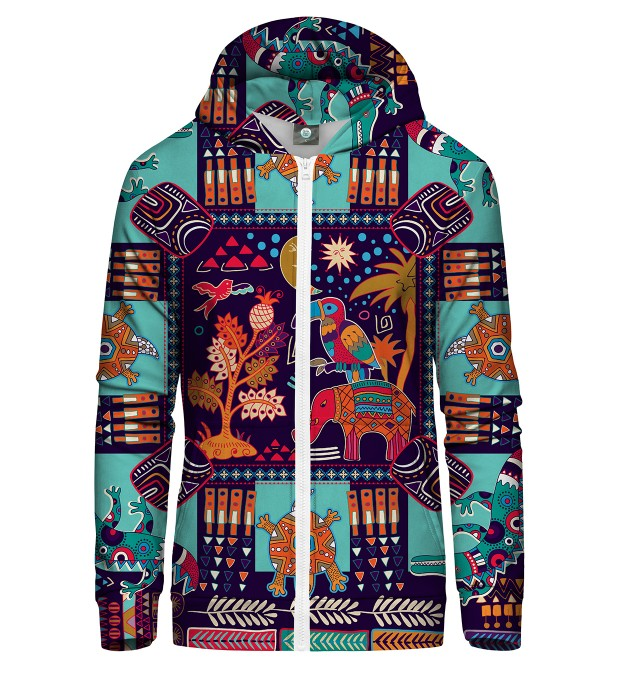 TRIBAL CONNECTION ZIP UP HOODIE Thumbnail 1