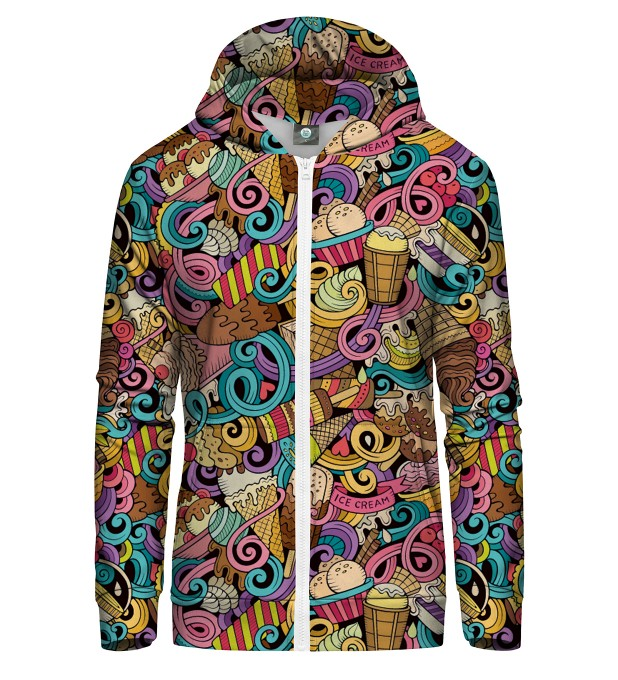 LOVE THY ICE CREAM ZIP UP HOODIE Thumbnail 2