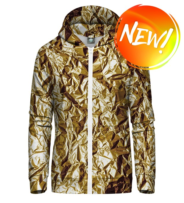GOLDEN ZIP UP HOODIE Thumbnail 1