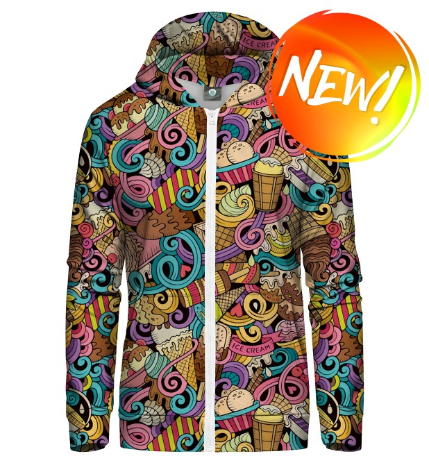 LOVE THY ICE CREAM ZIP UP HOODIE Thumbnail 1