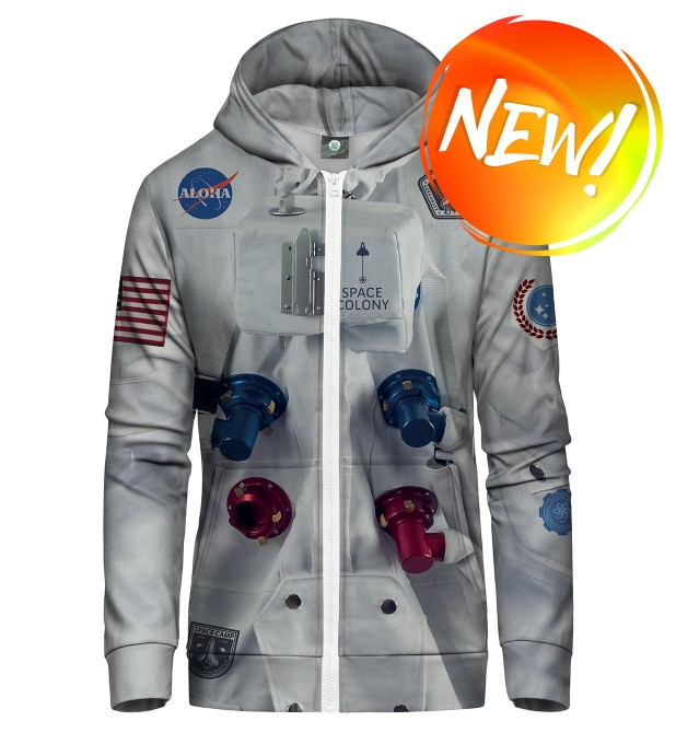 ALOHA SPACE STATION ZIP UP HOODIE Thumbnail 1