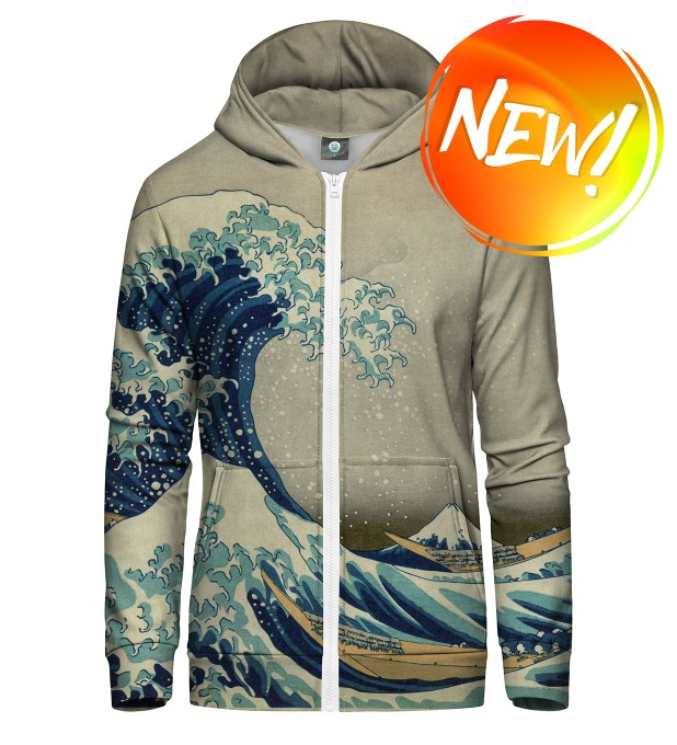 GREAT WAVE ZIP UP HOODIE Thumbnail 1