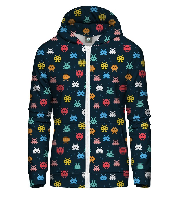 SPACE INVADERS ZIP UP HOODIE Thumbnail 1