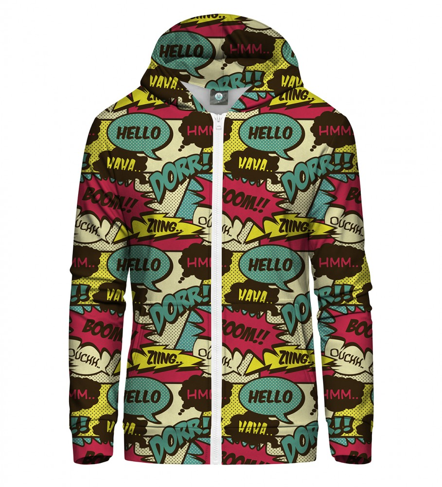 Aloha From Deer, COMIC ZIP UP HOODIE Image $i