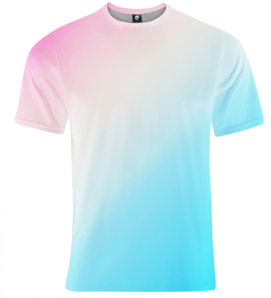 Aloha From Deer, PINKBLUE ASKEW OMBRE T-SHIRT Image $i