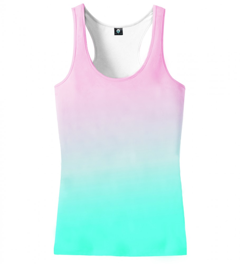 Aloha From Deer, PINKBLUE OMBRE TANK TOP Image $i