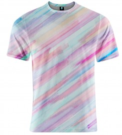 Aloha From Deer, PASTEL STRIPES OMBRE T-SHIRT Thumbnail $i