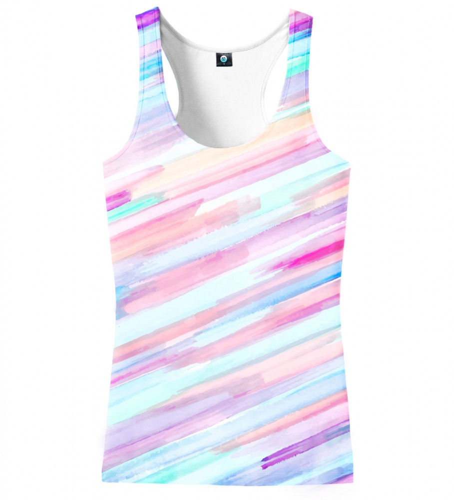 Aloha From Deer, PASTEL STRIPES OMBRE TANK TOP Image $i