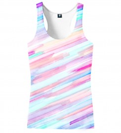 Aloha From Deer, PASTEL STRIPES OMBRE TANK TOP Thumbnail $i
