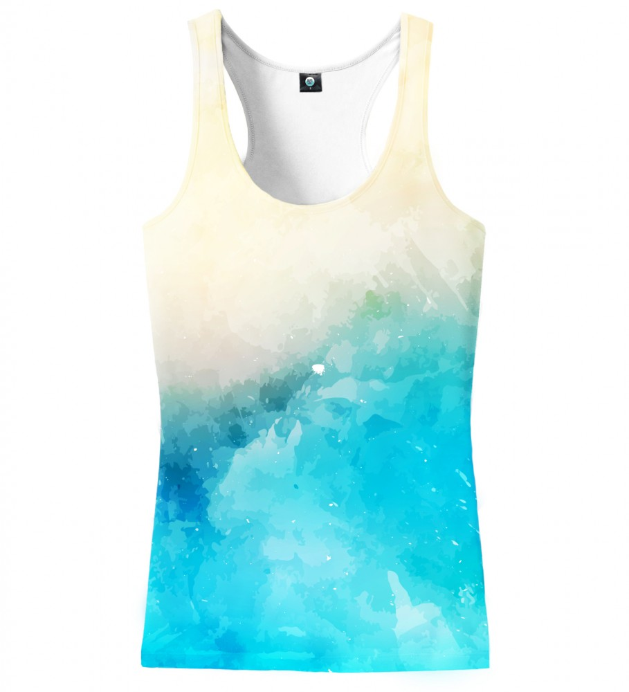 Aloha From Deer, SEASIDE V2 WATERCOLOR TANK TOP Image $i