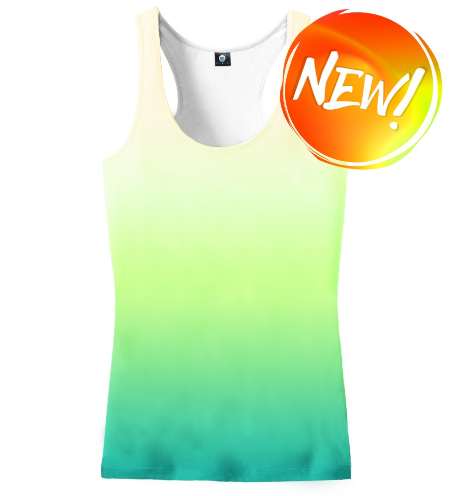 Aloha From Deer, MORNING GRASS OMBRE TANK TOP Image $i