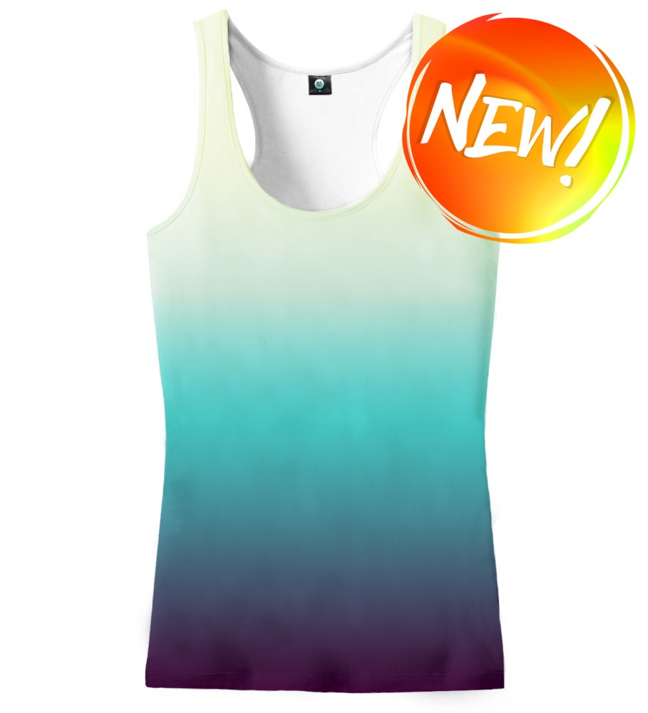 Aloha From Deer, SOAKING WET OMBRE TANK TOP Image $i