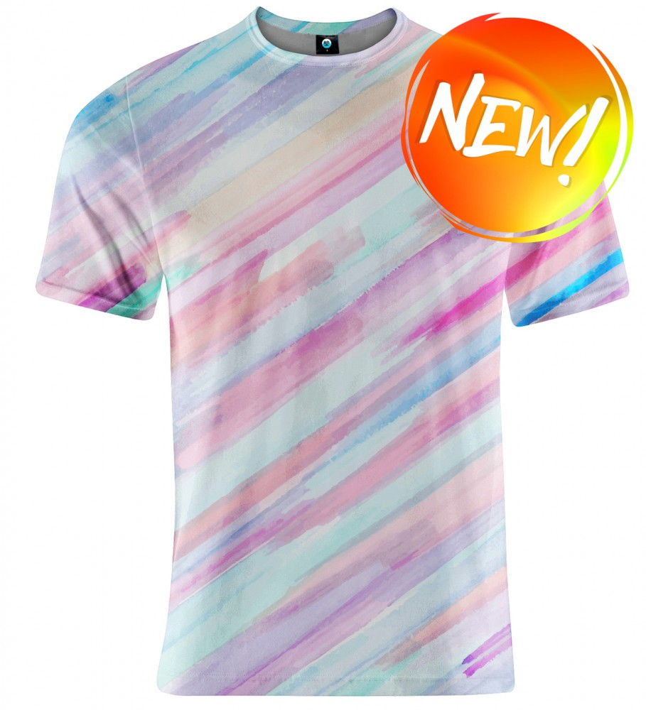 Aloha From Deer, PASTEL STRIPES OMBRE T-SHIRT Image $i