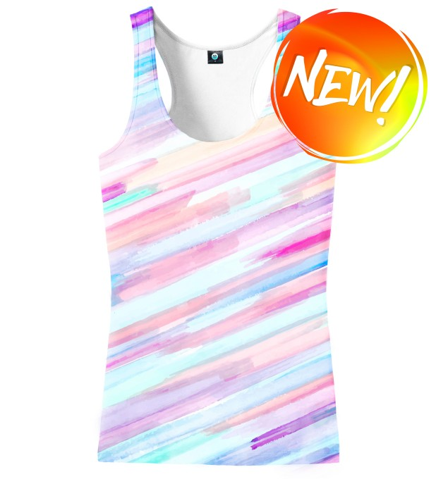 PASTEL STRIPES OMBRE TANK TOP Thumbnail 1