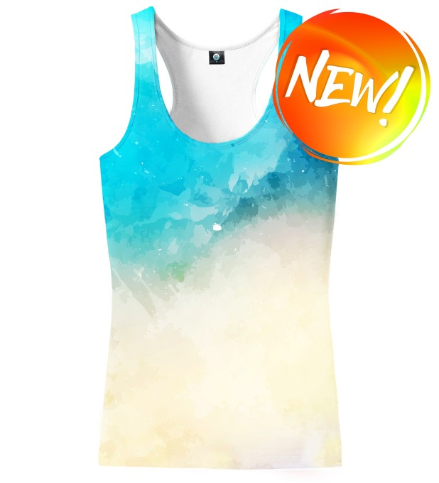 SEASIDE WATERCOLOR TANK TOP Thumbnail 1