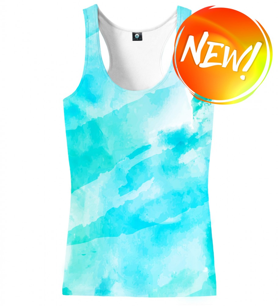 Aloha From Deer, CLOUDY WATERCOLOR TANK TOP Image $i