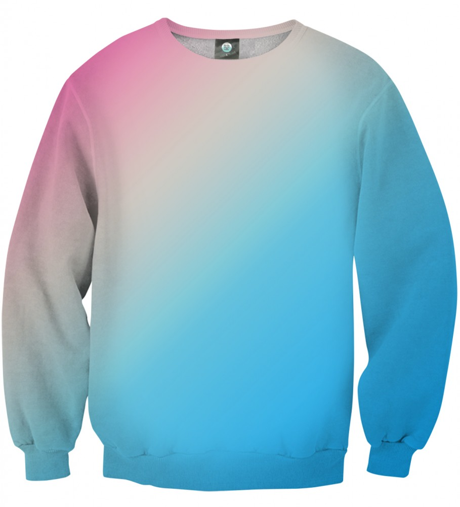 Aloha From Deer, PINKBLUE OMBRE ASKEW SWEATER Image $i