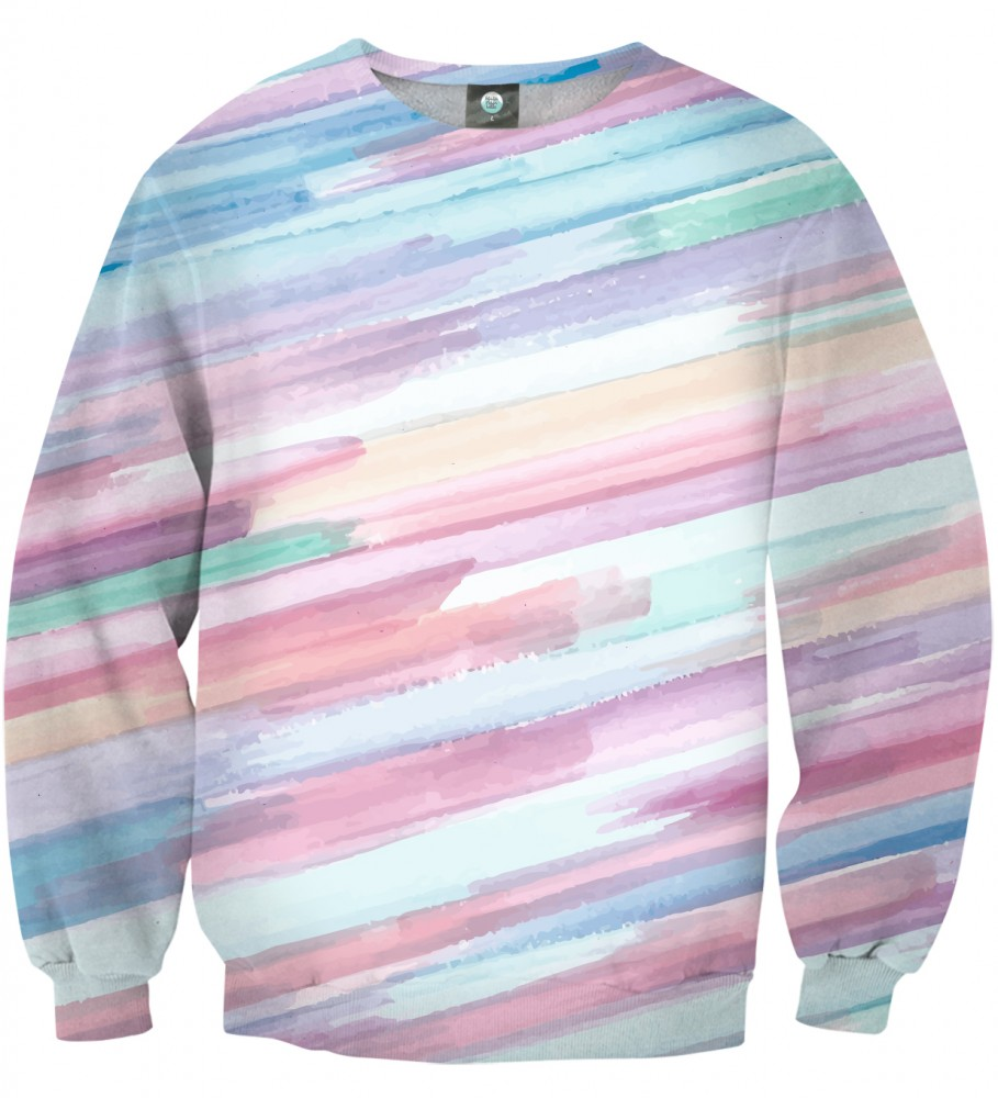 Aloha From Deer, PASTEL STRIPES OMBRE SWEATSHIRT Image $i
