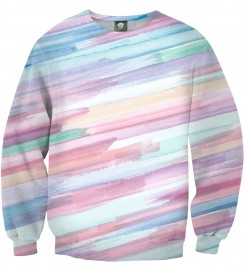 Aloha From Deer, PASTEL STRIPES OMBRE SWEATSHIRT Thumbnail $i
