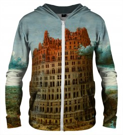 Aloha From Deer, TOWER OF BABEL ZIP UP HOODIE Thumbnail $i