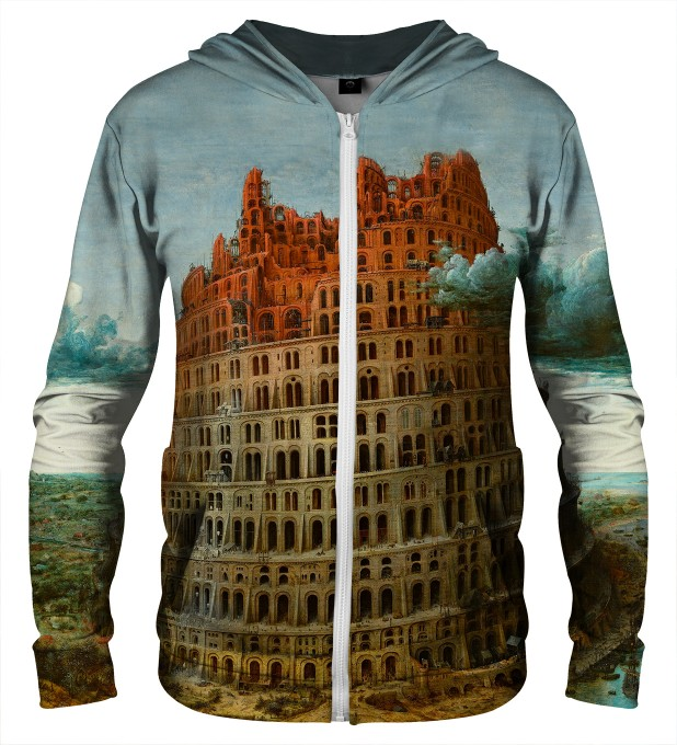 TOWER OF BABEL ZIP UP HOODIE Thumbnail 1
