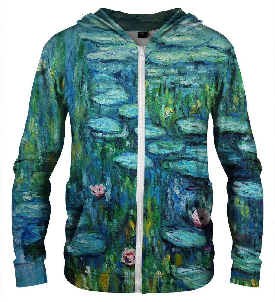 Aloha From Deer, WATER LILLIES ZIP UP HOODIE Image $i