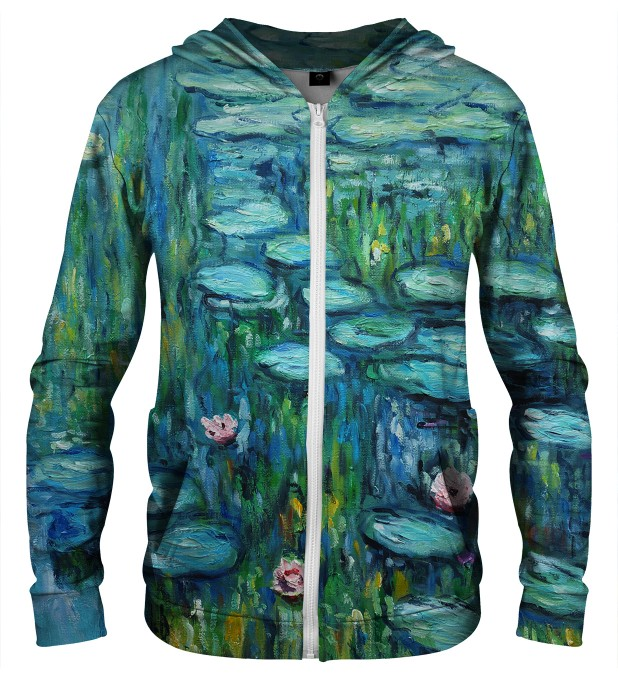 WATER LILLIES ZIP UP HOODIE Thumbnail 1