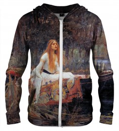 Aloha From Deer, LADY OF SHALOTT ZIP UP HOODIE Thumbnail $i