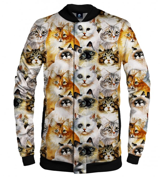 CAT HEADS BASEBALL JACKET Thumbnail 1
