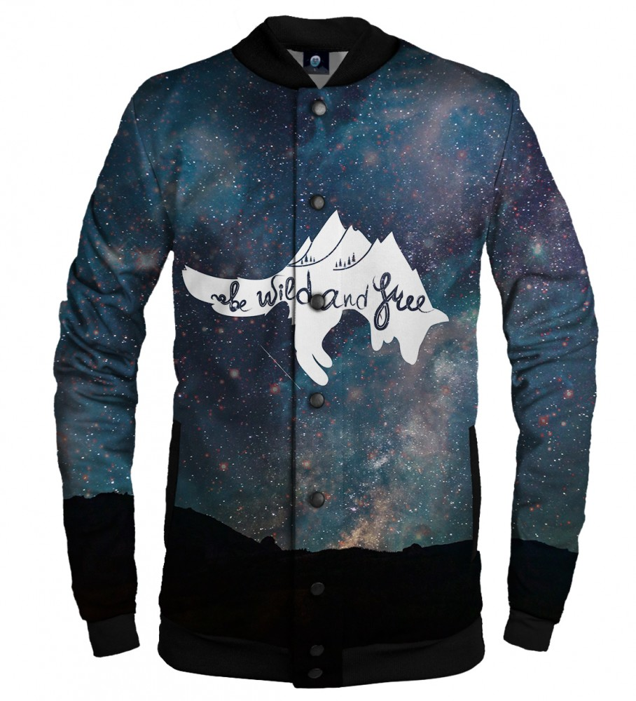 Aloha From Deer, WILD AND FREE BASEBALL JACKET Image $i