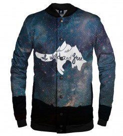 Aloha From Deer, WILD AND FREE BASEBALL JACKET Thumbnail $i