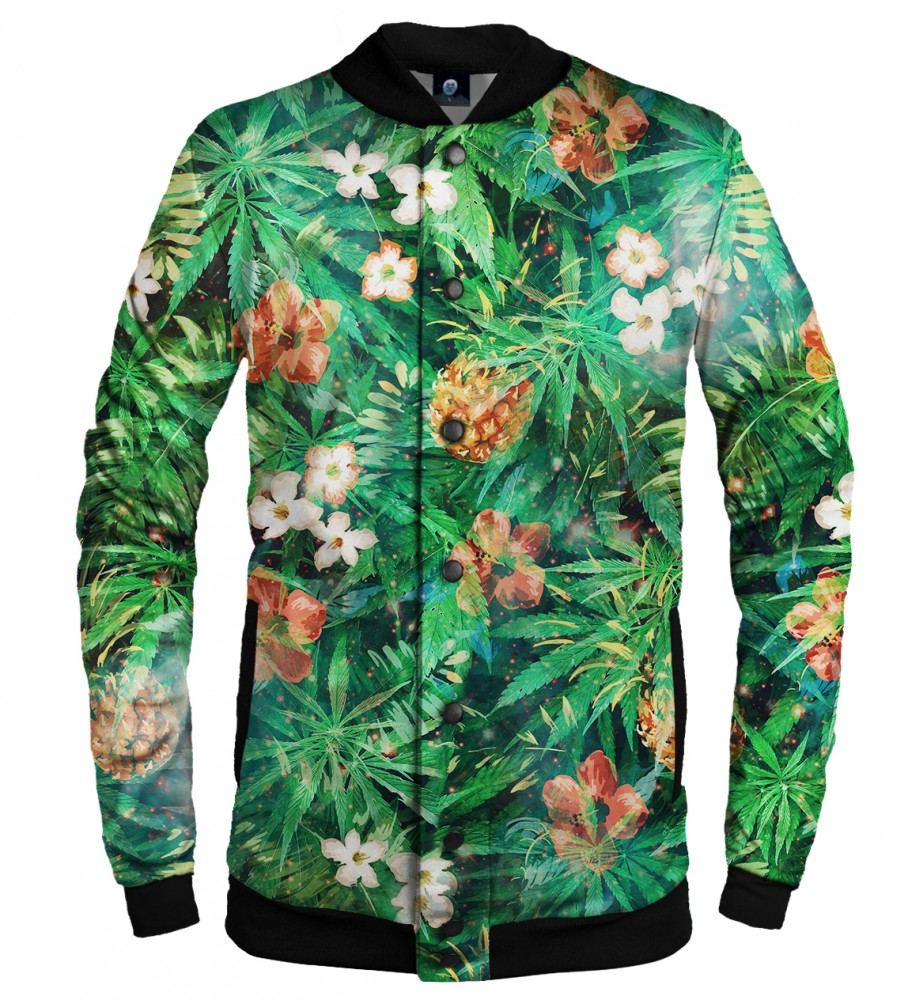 Aloha From Deer, SMOKE IT ALL BASEBALL JACKET Image $i